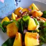 2014-08-22 Spinach peach salad