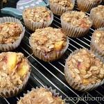 2014-10-19 Peach oatmeal muffins