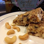 No-bake oats and raisin bar