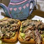 2014-11-24 Sardine & avocado sandwich