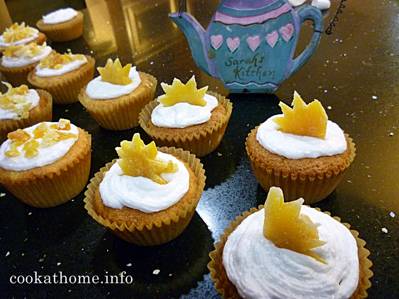 'Let there be light' pineapple cupcakes