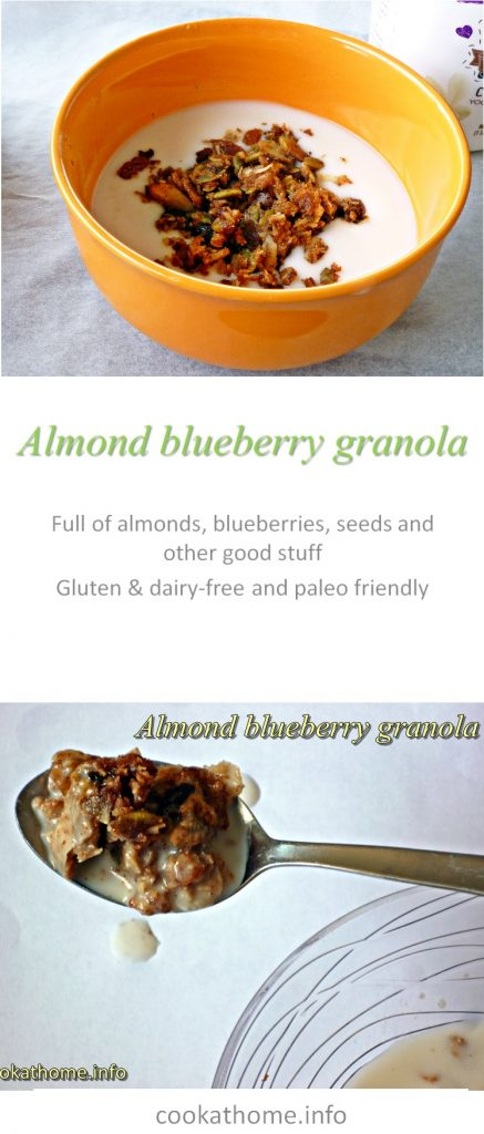 Almond blueberry granola