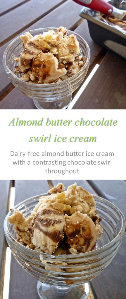 Almond butter ice cream