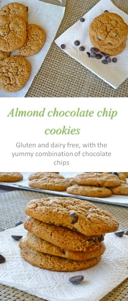 Almond choc chip cookies