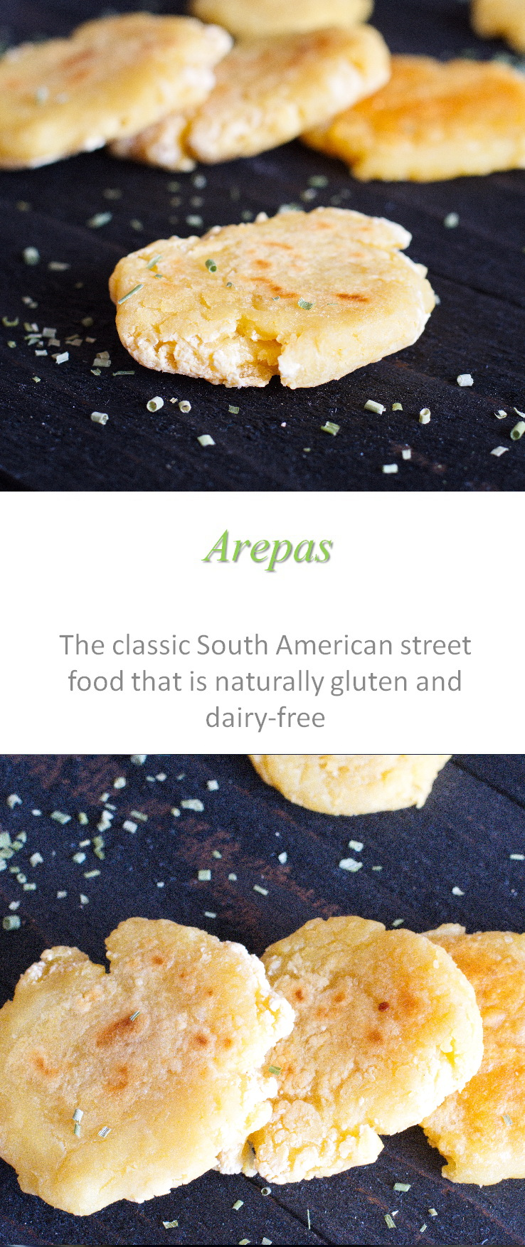 Arepas - naturally gluten and dairy-free - these South American staples are so versatile for any meal! #arepas