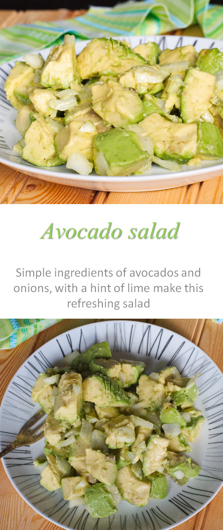 A simple, yet tasty, avocado salad with a slight zing. #avocado