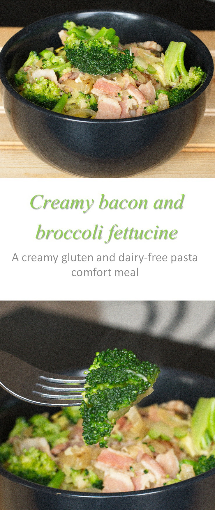 Creamy bacon broccoli pasta - made gluten and dairy free, even Whole30 compliant, and is always yummy #pasta