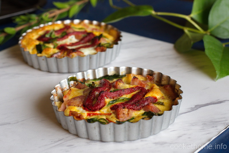 Who said you couldn't have pizza for breakfast? A Whole30 compliant, egg-based bacon crusted pizza quiche to get you started for the day! #quiche
