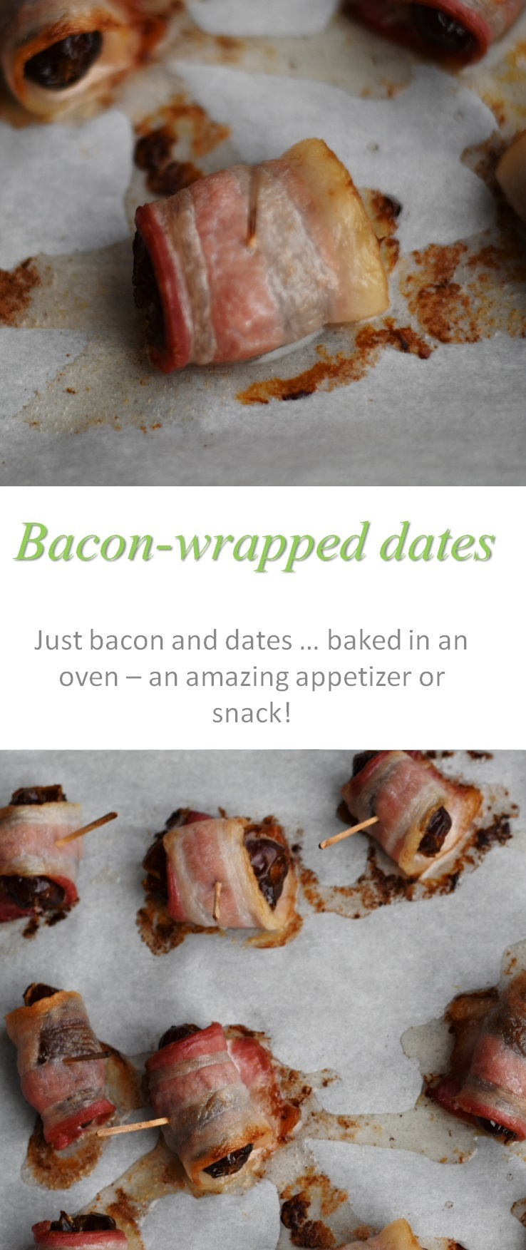 Bacon wrapped dates - the star of any party - and oh so easy to make! Just bacon, dates and an oven is all you'll need to make these awesome snacks! #bacon