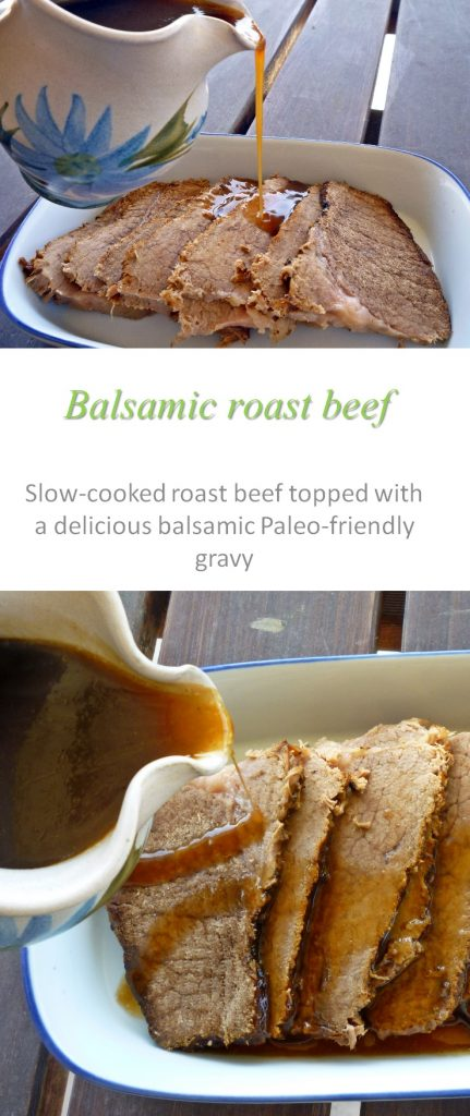 A tender beef roast, smothered with a yummy balsamic glaze, makes this balsamic glazed beef roast the highlight of any meal #beef