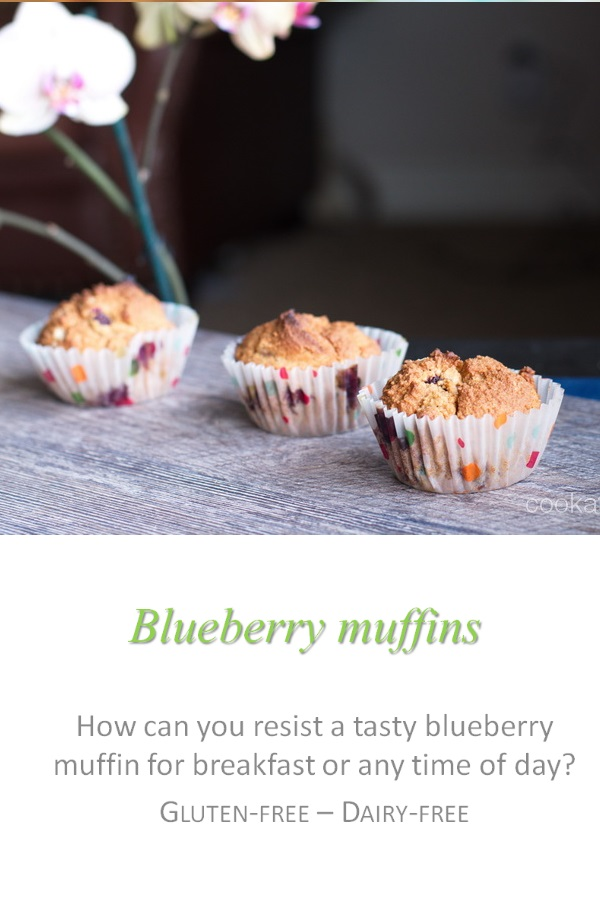A healthy alternative to high fat muffins, making moist and fruity blueberry muffins, or a blueberry loaf #blueberry #muffins #cookathome #glutenfree #dairyfree