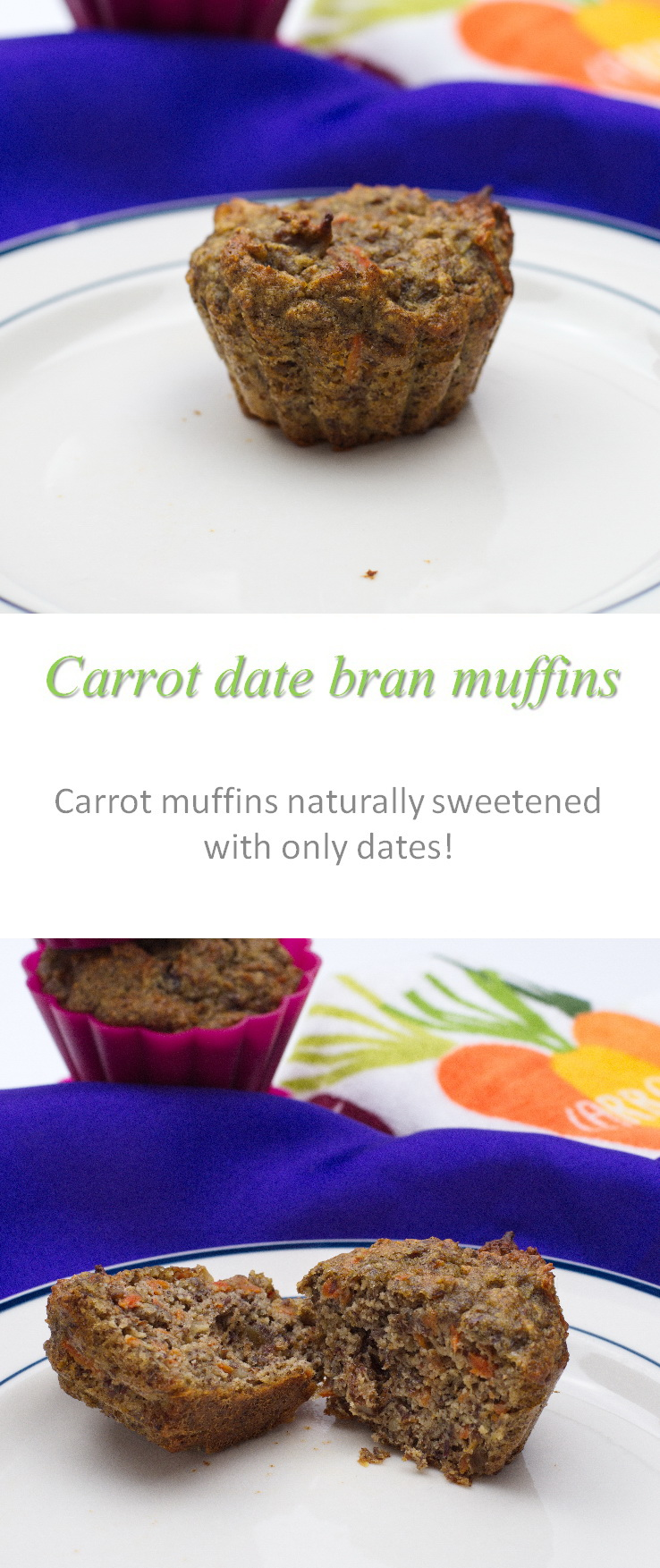 Carrot walnut bran muffins, with no added sugar - yummy enough for a snack, healthy enough for breakfast! #muffin #carrots #paleo #cookathome #glutenfree #dairyfree #noaddedsugar