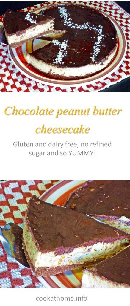 Chocolate pb tofu cheesecake long P