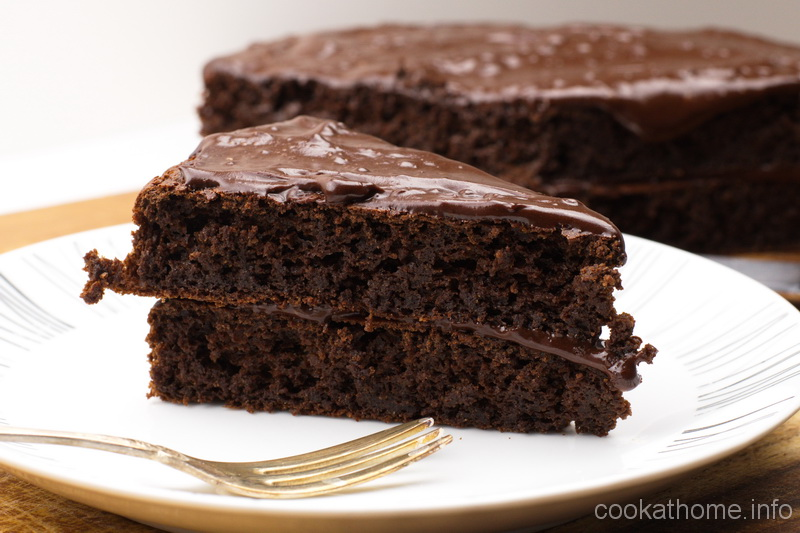 A gluten-free, dairy-free chocolate peanut butter cake, using peanut butter instead of the traditional butter or margarine as the fat content - a taste for the ages! #cake