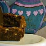 Chocolate peanut butter cookie slice