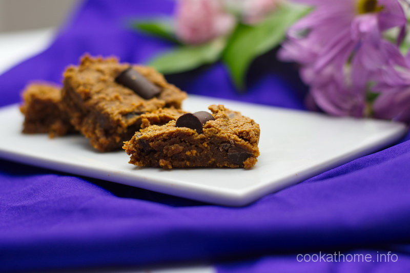 This chocolate chip peanut butter slice is a healthy combination of chocolate and peanut butter - gluten, dairy, egg and refined sugar-free. #peanutbutter