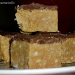 Chocolate peanut butter slice - Sarah