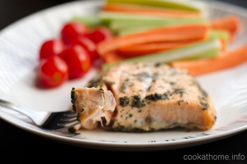Salmon marinated with cilantro and lime makes a tasty cilantro lime salmon meal for any time of day! #salmon