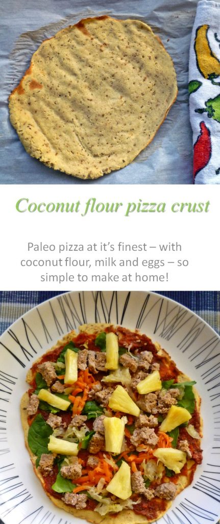 This Paleo pizza crust is so simple and tasty - just waiting for your creative toppings to be added! #pizza