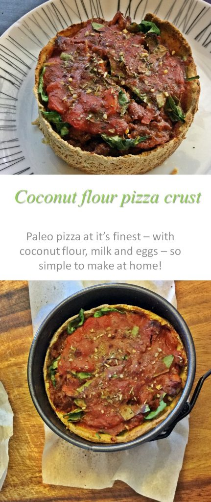 This Paleo pizza crust is so simple and tasty - just waiting for your creative toppings to be added! #paleo #pizza