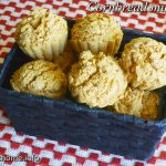 Cornbread muffins red paint
