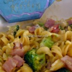 Creamy bacon and broccoli pasta
