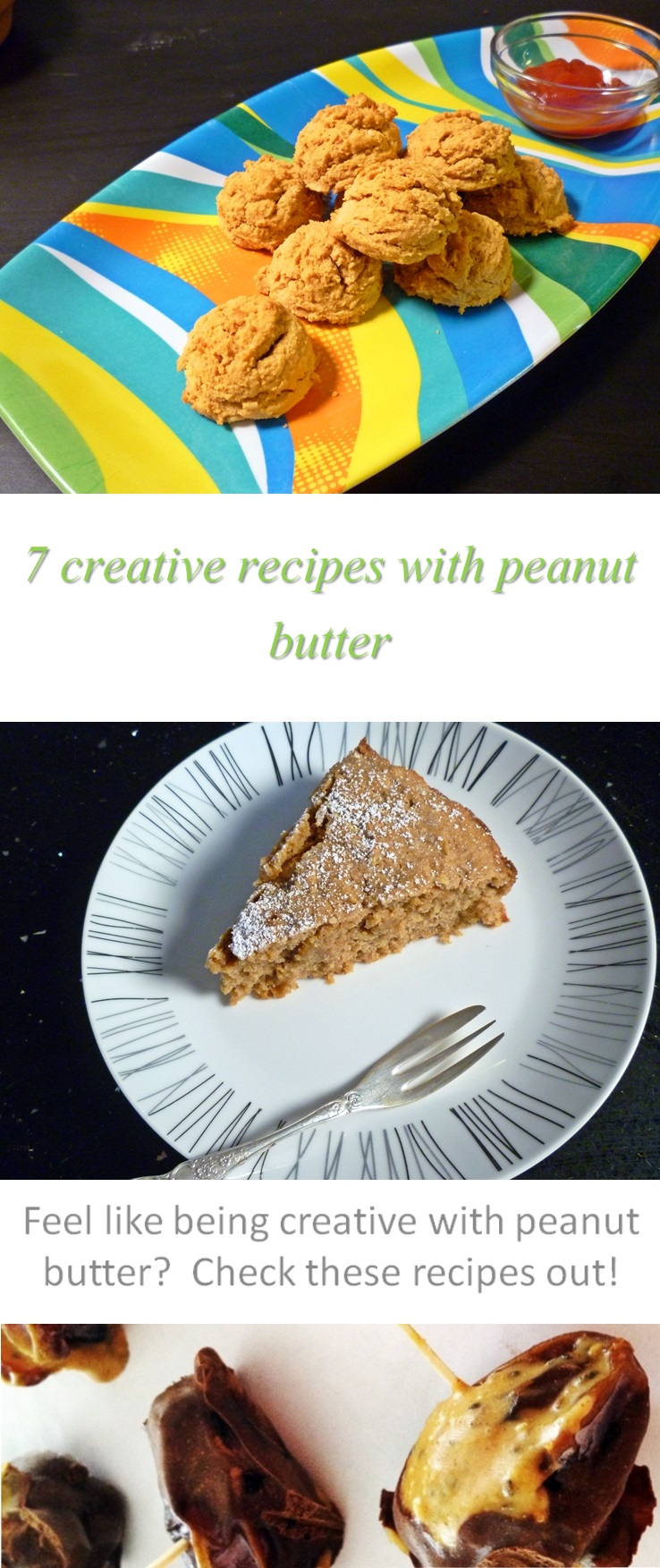 7 creative peanut butter recipes for cooking at home - all gluten and dairy-free, slightly unusual, but always tasty and family pleasing! #peanutbutter