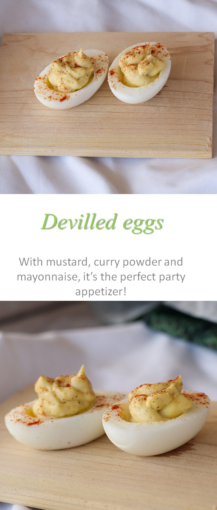 These devilled eggs are the standard potluck appetizer that are gluten and dairy free and so easy to make. #deviledeggs #potluck #glutenfree #dairyfree #paleo #whole30 #cookathome