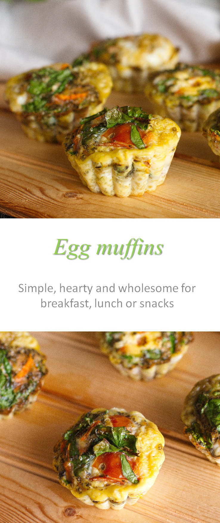 These egg muffins are really easy to make and can use whatever vegetables or other ingredients you have on hand. #eggmuffins