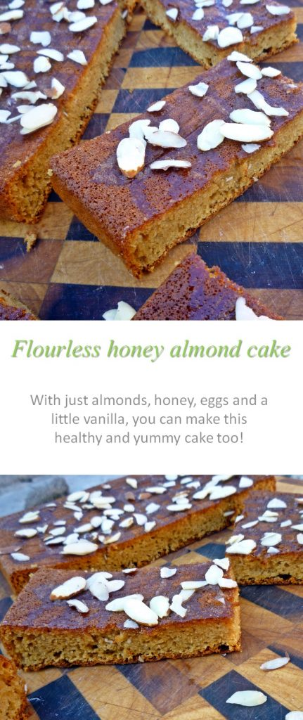 A light, flourless honey almond cake that is full of flavor, you'd never know it was gluten, dairy and refined-sugar free! #flourless