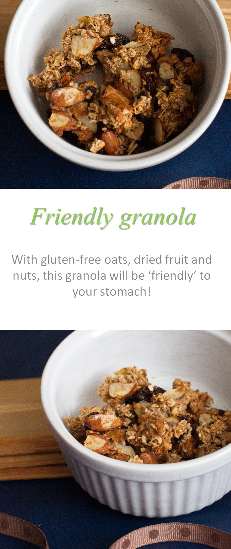 This friendly granola recipe is easy to make, and eat, for many people with dietary requirements. And you can mix and match any ingredients you have in the cupboard. #granola