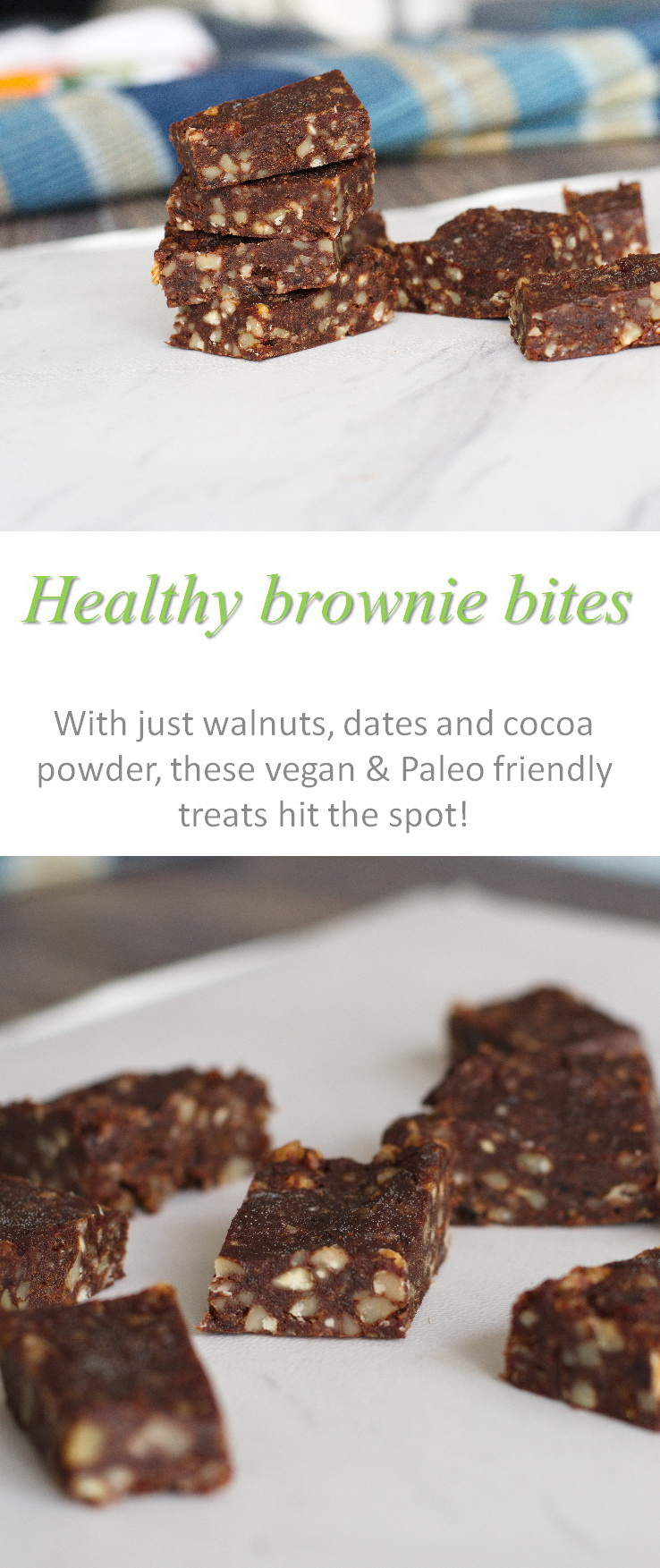 Healthy brownie bites using only 4 ingredients - all natural, no added refined sugar ... and YUMMY! #brownie