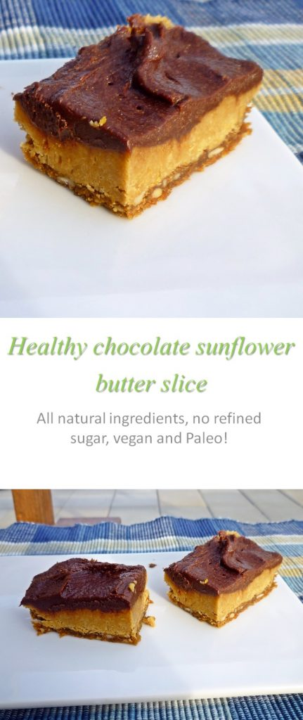 Healthy chocolate sunbutter slice