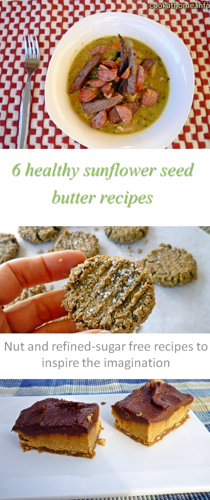6 healthy sunflower seed butter recipes - all gluten and dairy-free, Paleo-friendly and without any refined sugar! #sunbutter