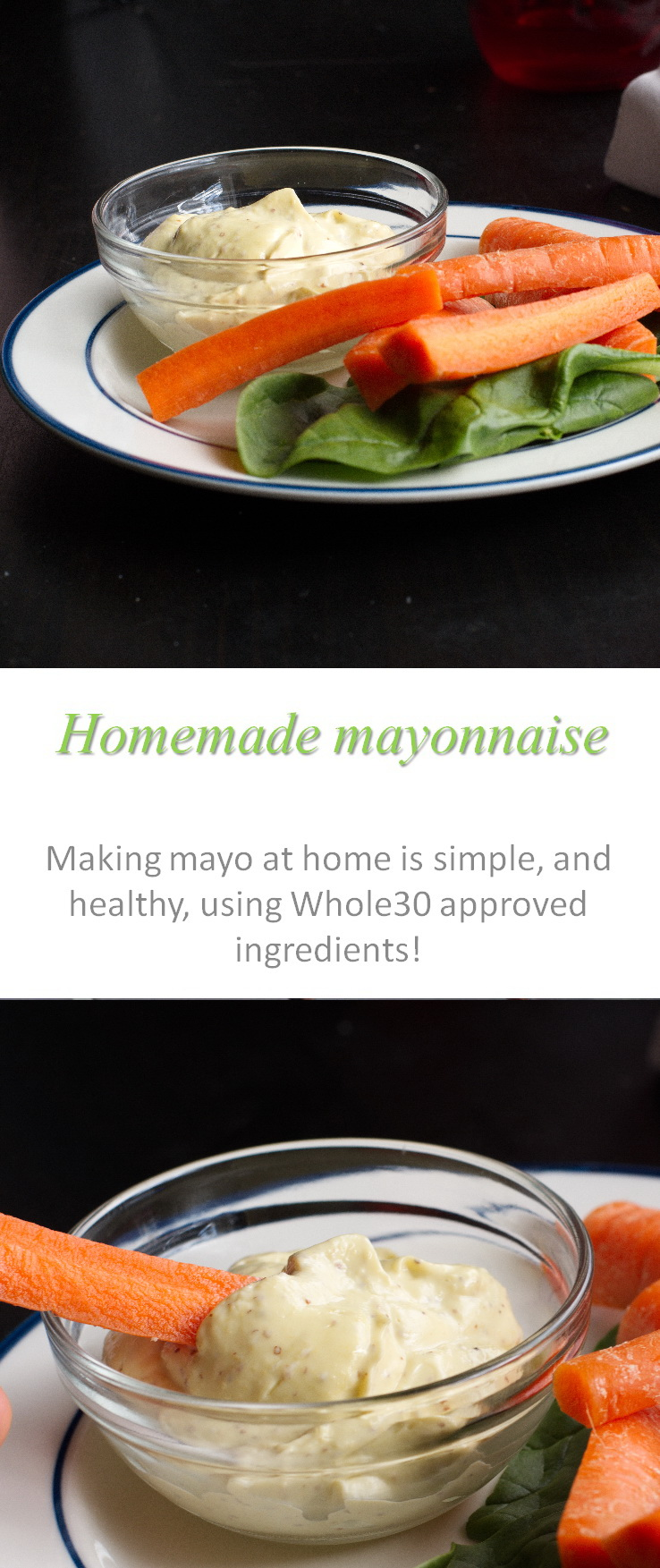 Make your own mayonnaise at home, with good, Whole30 compliant ingredients - it's so simple! #mayonnaise #cookathome #glutenfree #dairyfree