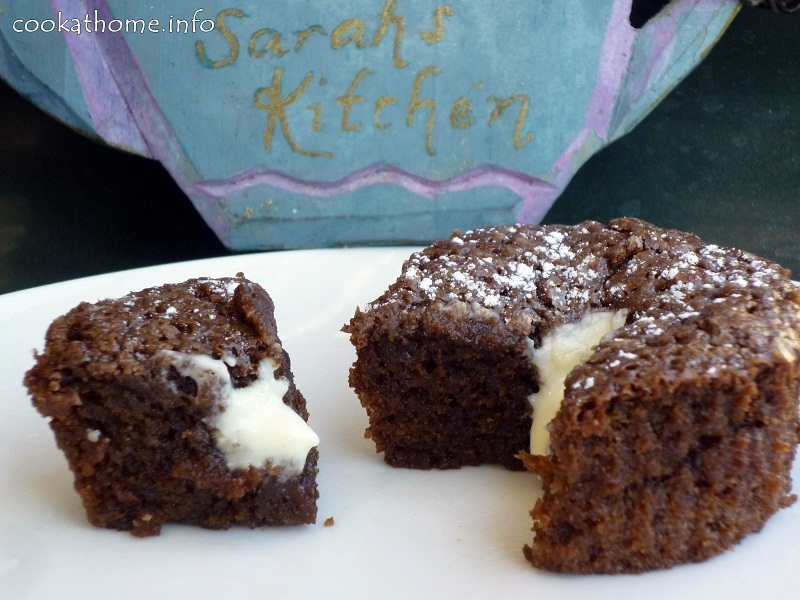 Molten flourless chocolate cupcakes