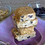 No bake oat and raisin bar
