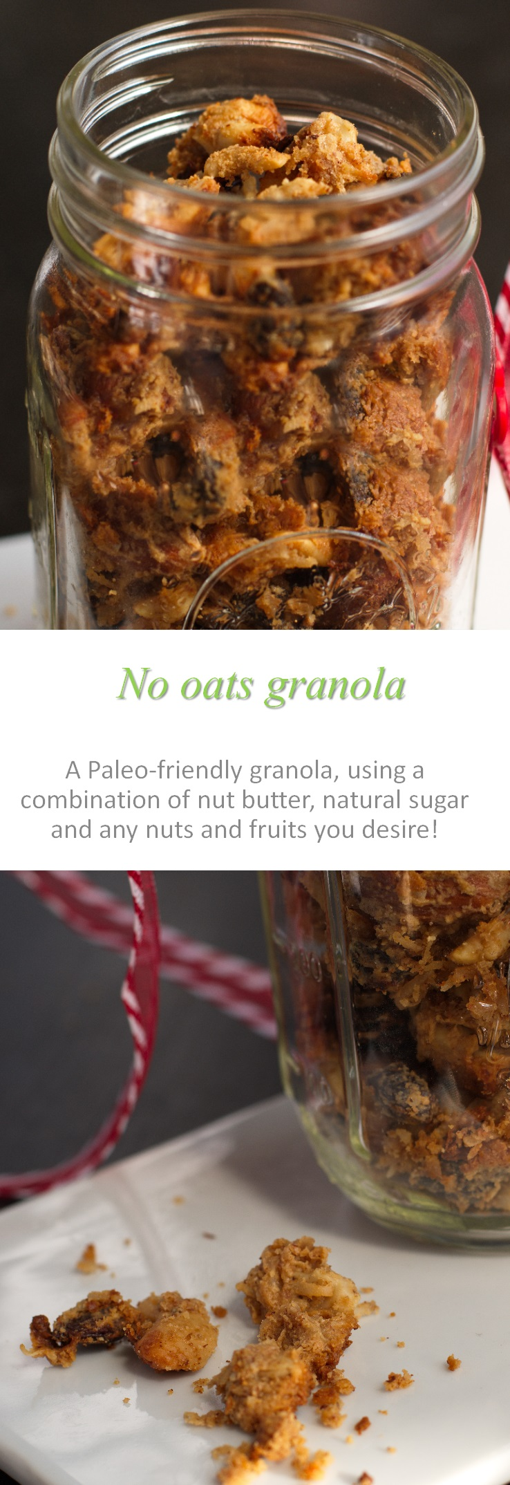 A healthy and hearty gluten and dairy free no oats granola - can be made as paleo, but will always be yummy! #granola