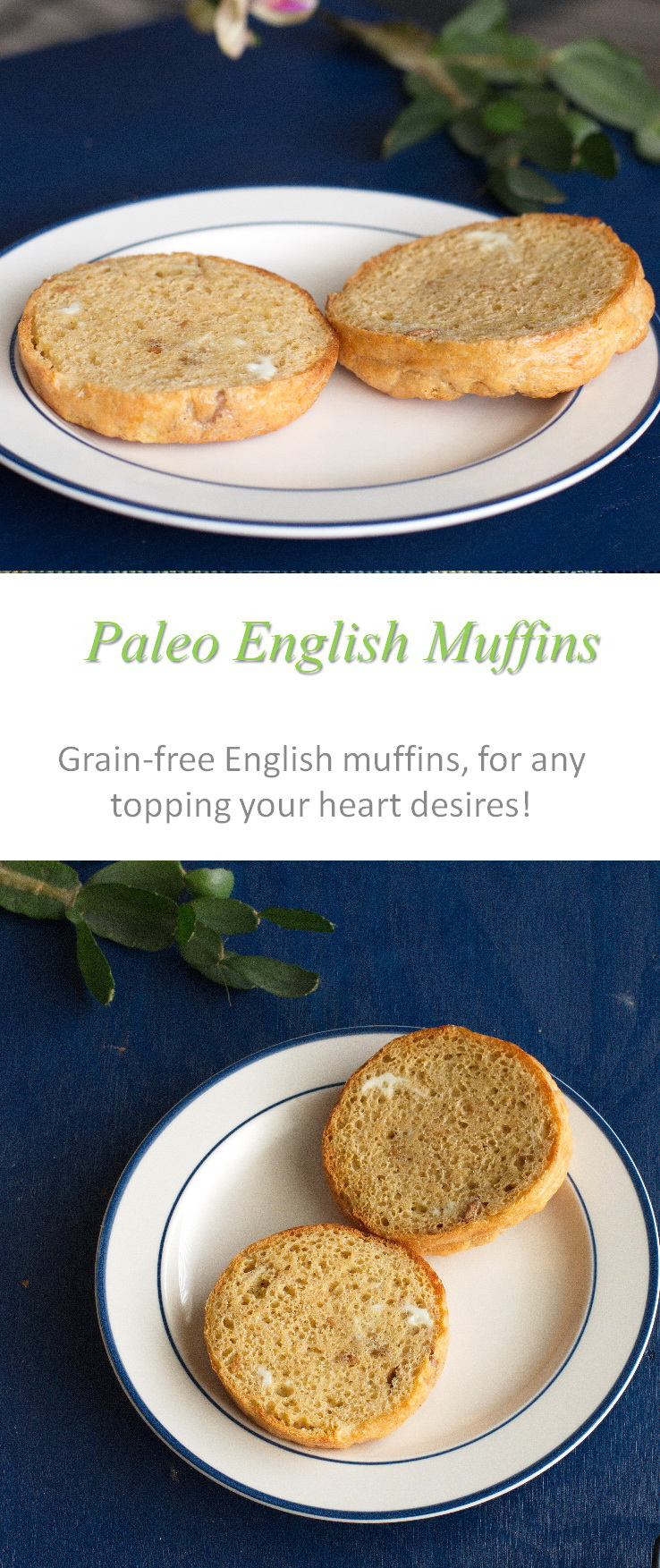 An awesome replacement for the commercial English muffins - made Paleo-friendly, gluten and dairy-free - for all your favorite toppings! #englishmuffins #cookathome #glutenfree #dairyfree