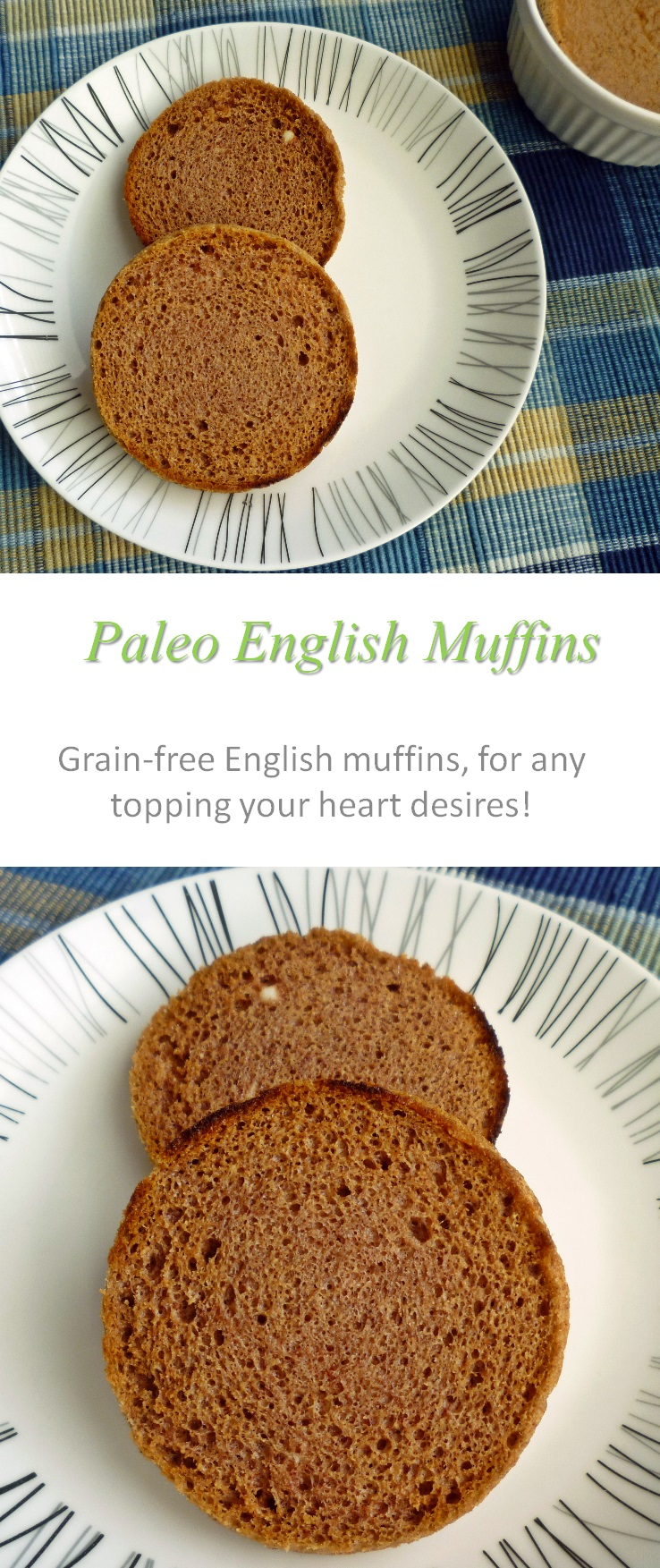An awesome replacement for the commercial English muffins - made Paleo-friendly, gluten and dairy-free - for all your favorite toppings! #Englishmuffin
