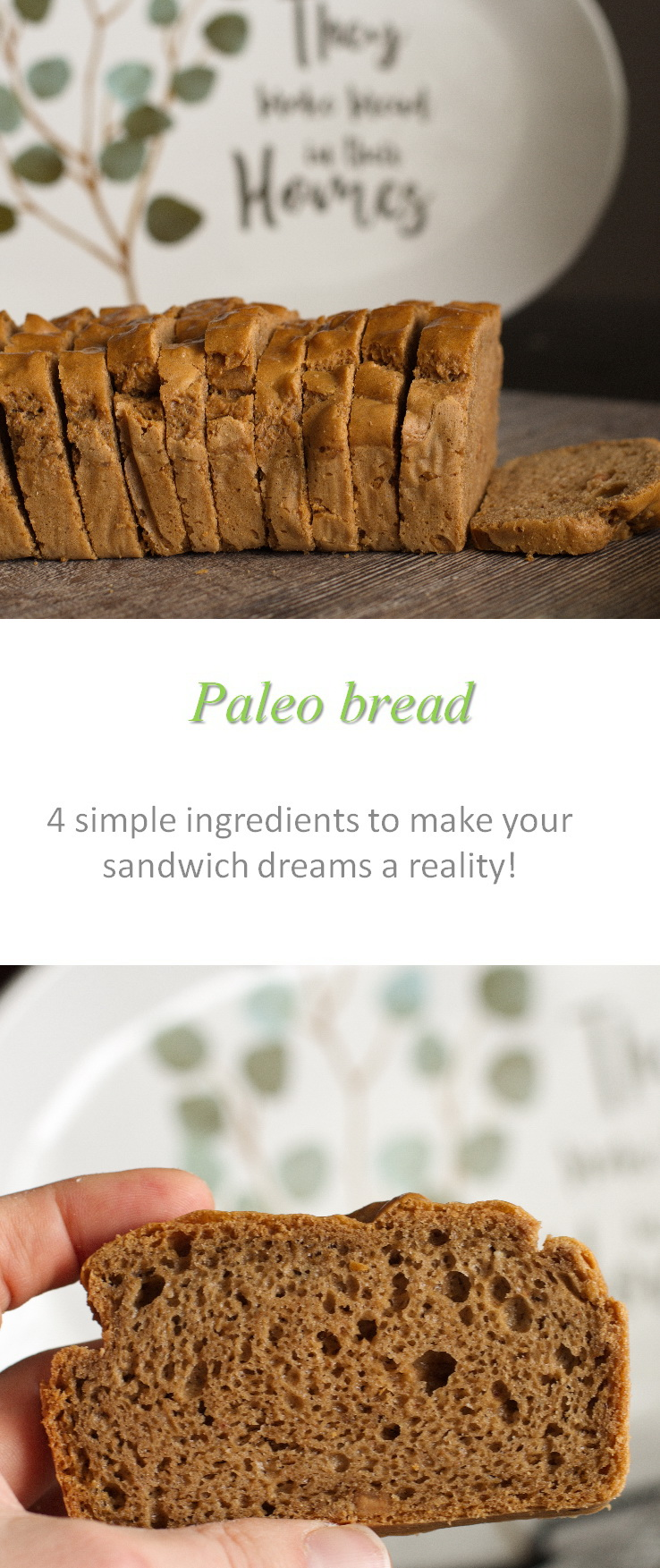 Whoever knew that Paleo bread could be so easy to make?  And so versatile for sandwiches, soups, toast ...? #bread #paleo #cookkathome #glutenfree #dairyfree