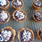 Paleo chocolate cream pies