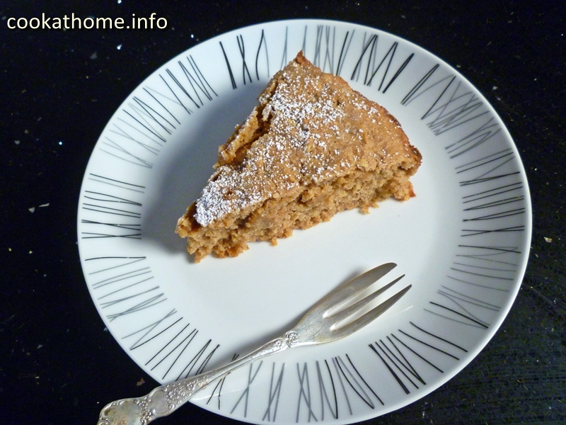 Peanut butter apple spice cake