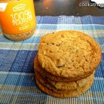 Peanut butter choc chip egg yolk cookies