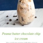 Peanut butter choc chip ice cream