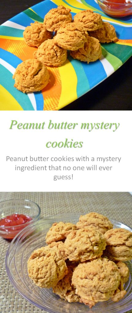 Gluten and dairy-free moist and chewy peanut butter mystery cookies - no one will ever guess what the secret ingredient is! #cookies