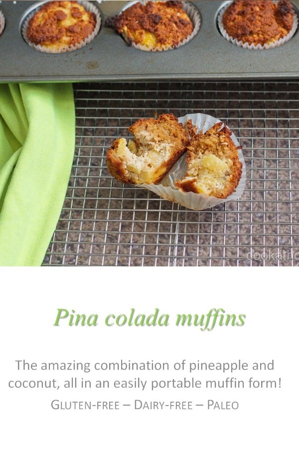 It's like a pina colada in your mouth - but in muffin form! #pinacolada #cookathome #paleo #glutenfree #dairyfree