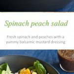 Spinach peach salad