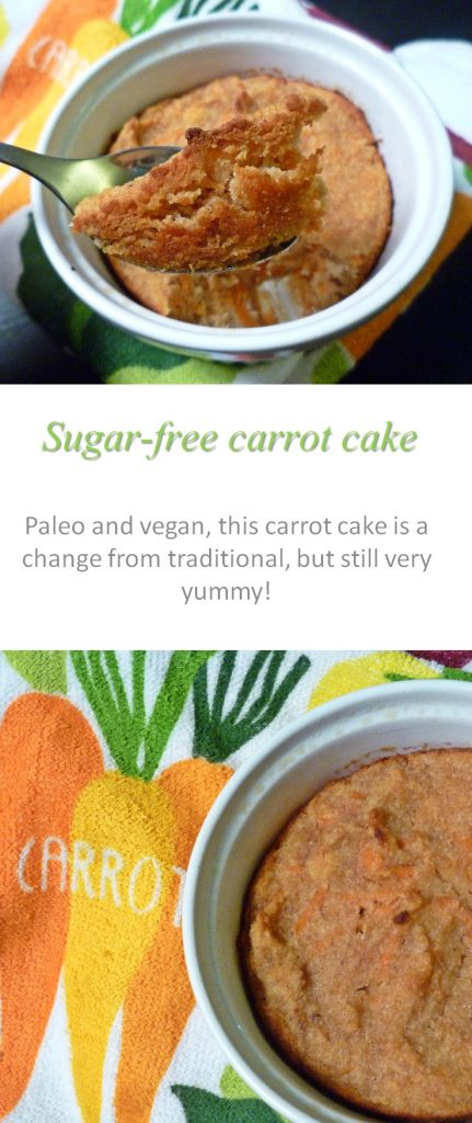 A simple recipe for sugar free carrot cake that is free of grains, dairy, eggs and gluten #carrotcake