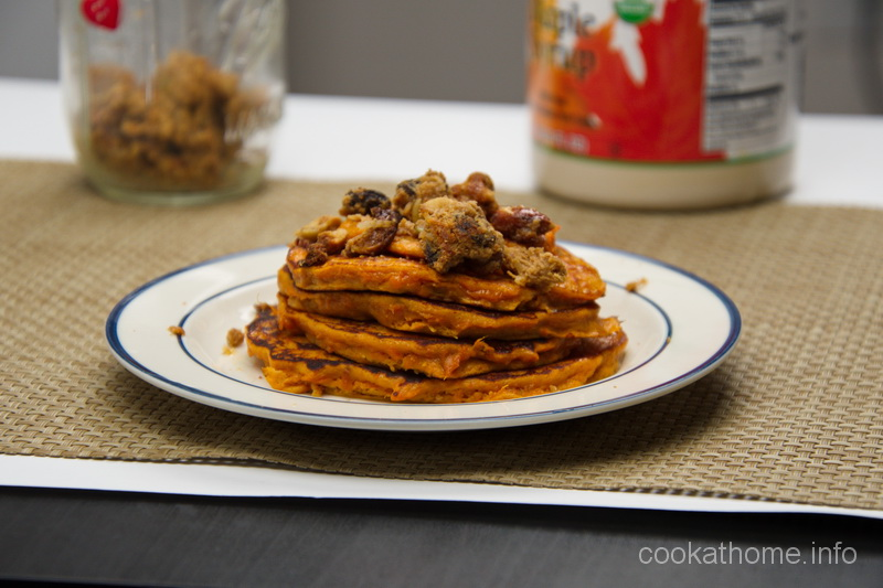 Easy to make, very easy to eat, these sweet potato pancakes hit the spot, every time! #pancakes